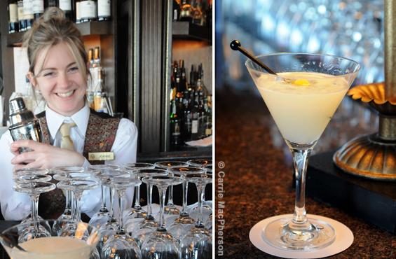 Chateau Frontenac St-Laurent bar martini