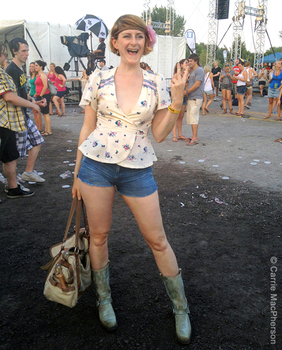 Carrie outfit post Osheaga 2012