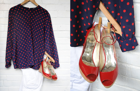 Polka dots and guess shoes