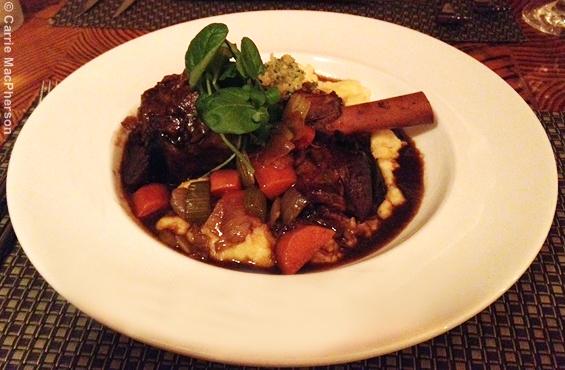 Lamb shank Solstice restaurant