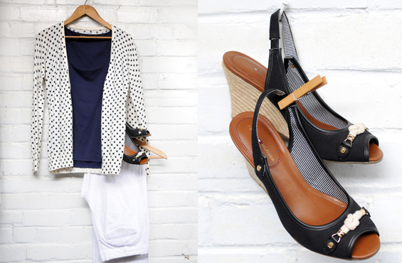 Old Navy cardigan Tommy Hilfiger shoes
