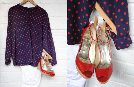 Polka dots and guess shoes