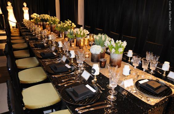 Bridal Boudoir dinner table