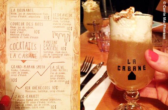 La Cabane cocktail