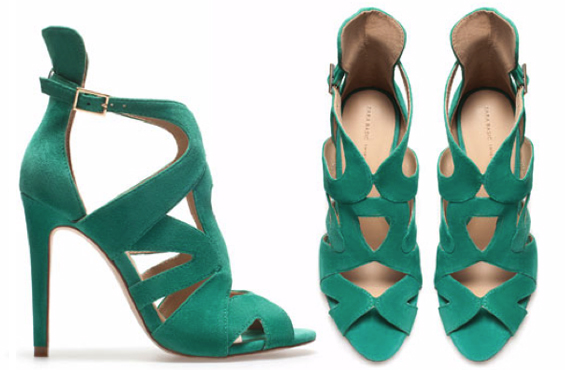 ZARA strappy high heel sandal