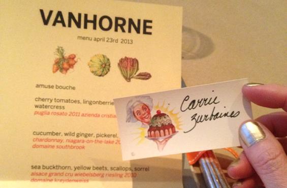 Vanhorne menu