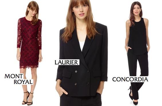 Mont Royal dress Laurier jacket Concordia pant