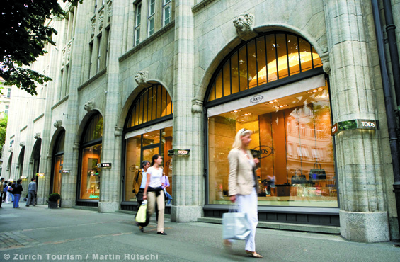 Shopping Zürich Bahnhofstrasse
