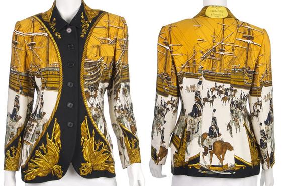 Hermès scarf print jacket