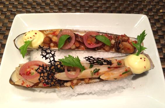 Razor clams Maison Boulud