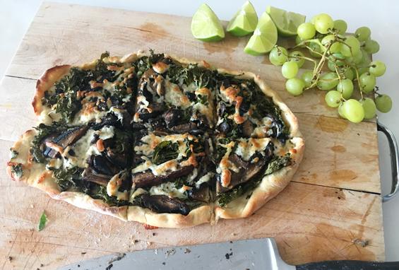 Miss Fresh Portobello Kale Pizza