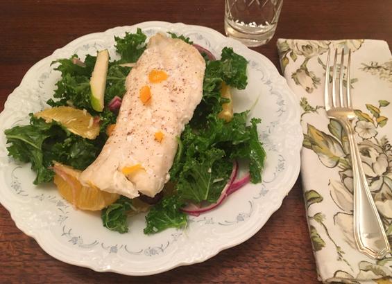 Miss Fresh kale and white fish salad 2