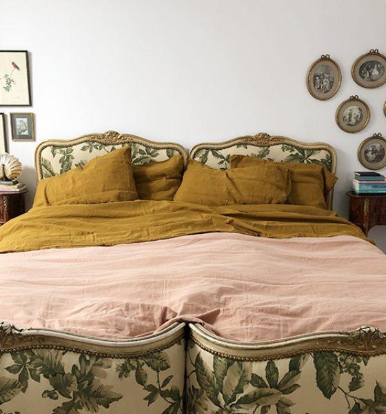 Chambre de luxe avec la nouvelle collection de literie signée Maison Tess