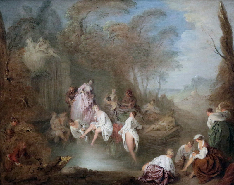 Bathing Party in a Park by Jean-Baptiste Pater
